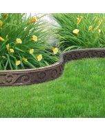Flexible Garden Border, Scroll Effect, Brown, 1.2m