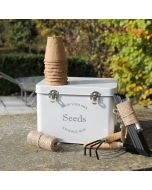Gardeners Grey Seed Tin Gift Set