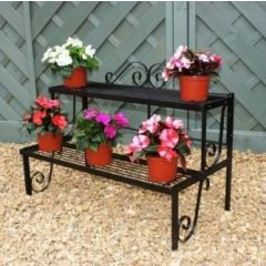 Plant Pot Stand, 2 Shelves