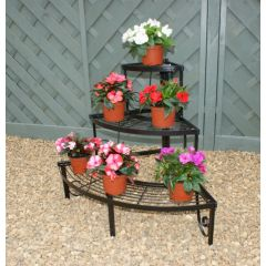 Corner Plant Pot Stand, 3 Shelves