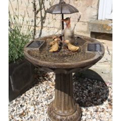 Water Feature - Duck Family Solar
