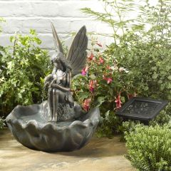 Solar Garden Fairy Water Feature