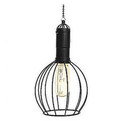 Industrial Style Hanging Solar Light - Circular