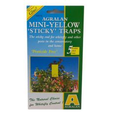 Mini Yellow Sticky Traps For Whitefly on House Plants