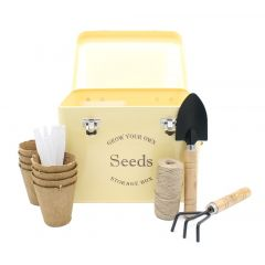 Vintage Cream Seed Tin Gift Set