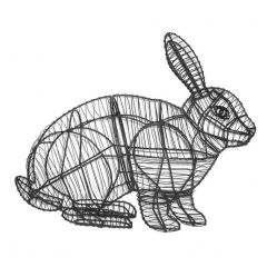 Topiary Rabbit Running
