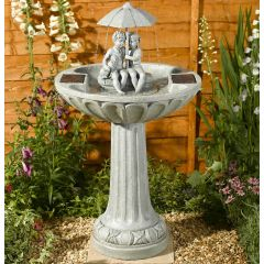 Umbrella Bird Bath Water Feature
