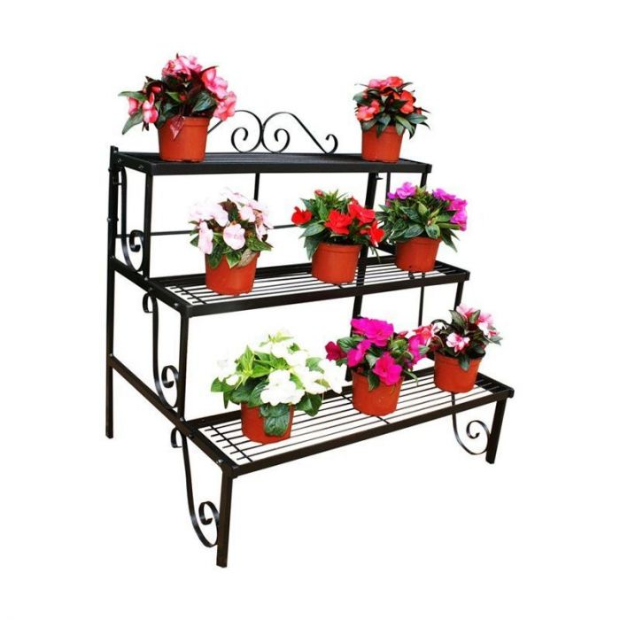 Plant Pot Stand, 3 Shelves