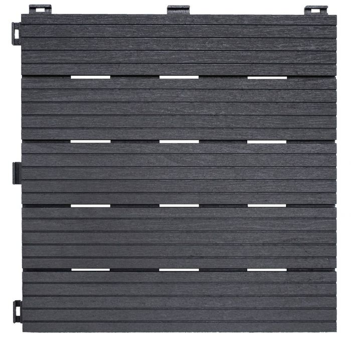 Recyled Rubber Decking Tiles Pk of 6