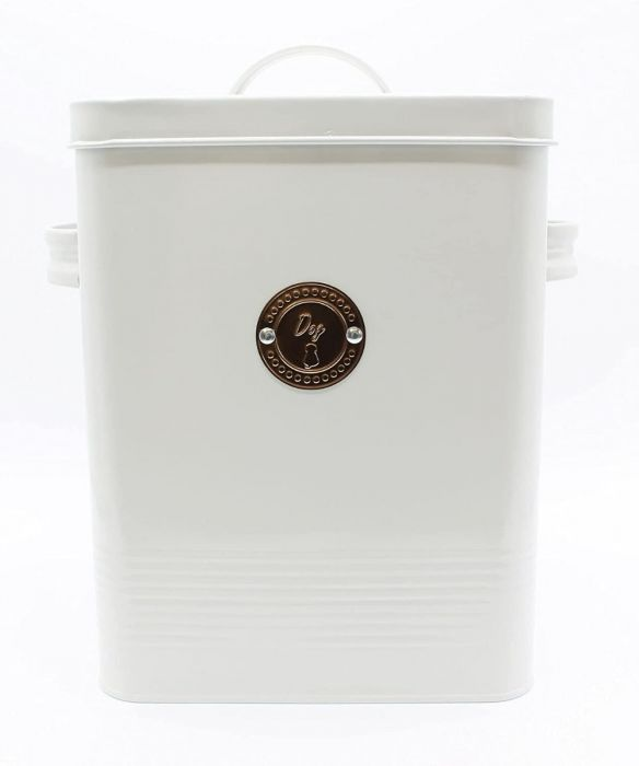 Dog Food Biscuit Tin - French Grey