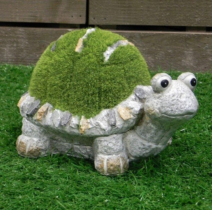 Flocked grass Turtle