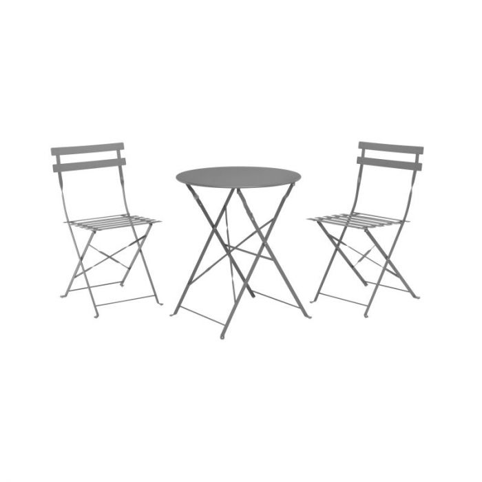 Garden Bistro Set Matt Grey