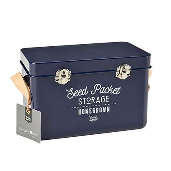 Seed Storage Tin - Atlantic Blue