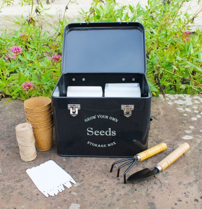 Midnight Black Seed Storage Tin Gift Set