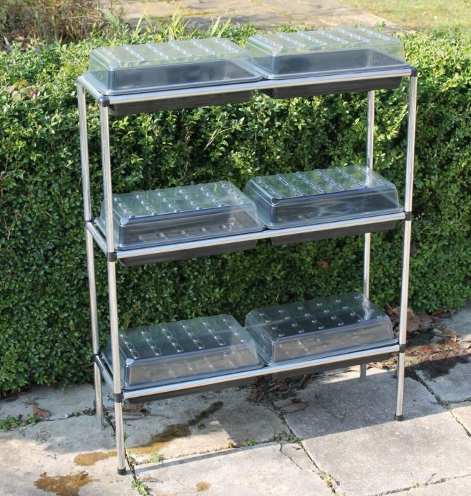 Seed Tray Stand With 6 Trays
