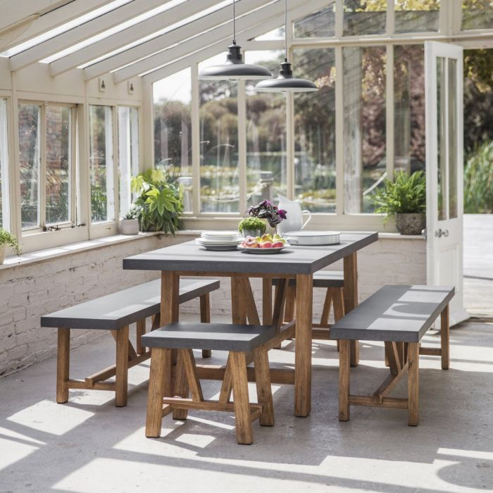 Chilson Cement Fibre Table and Bench Sets