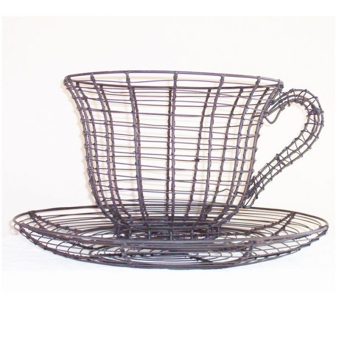 Topiary Frame - Teacup & Saucer