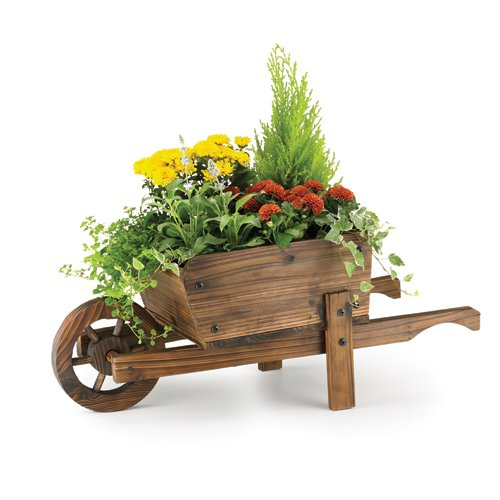 Wooden Wheelbarrow Planters From Gardening Naturally